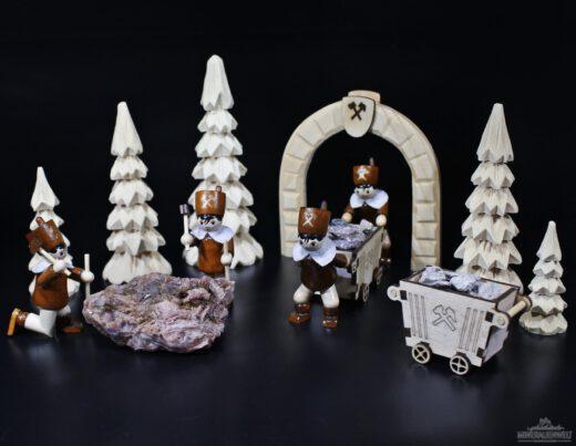 Bergmänner bei der Arbeit